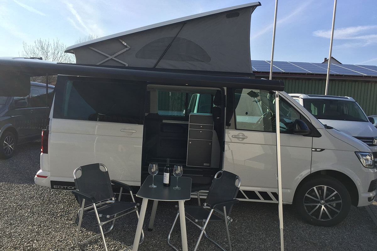 VW T6 California Beach Mieten Mit Innenküche Bei Auto Korn